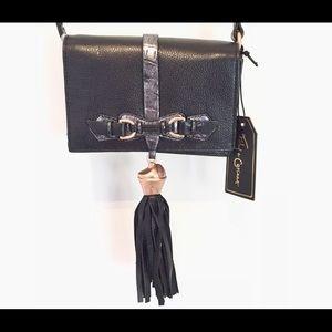 FOLEY + CORINNA black leather tassel shoulder bag